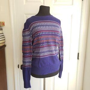 Merona Fair Isle Nordic Cotton Blend Sweater Top